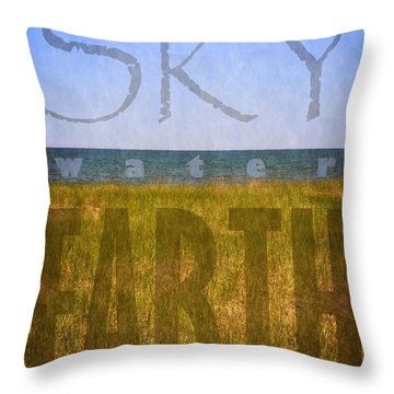 Sky Water Earth 2.0 Throw Pillow