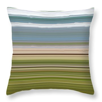 Sky Water Earth Grass Throw Pillow