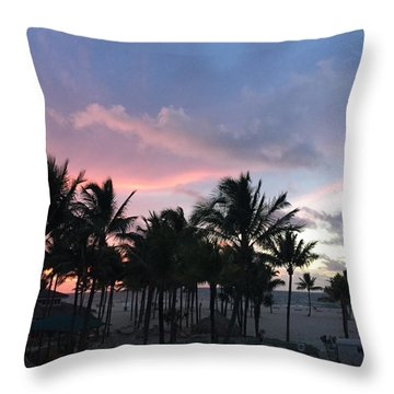 Sky With Palm Trees Throw Pillow