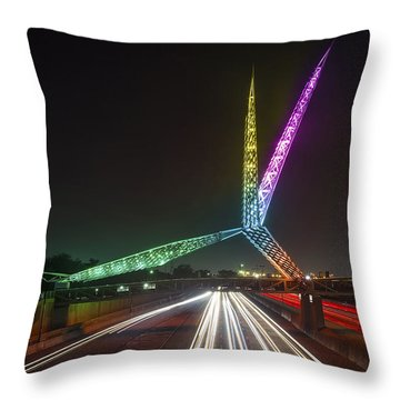 Skydance Bridge Okc Throw Pillow