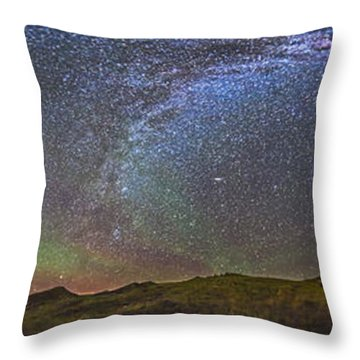 Skygazer Standing Under The Stars Throw Pillow