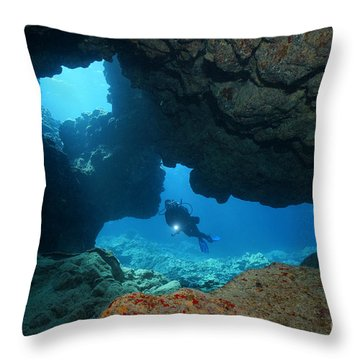 Throw Pillow featuring the photograph Skylight by Aaron Whittemore