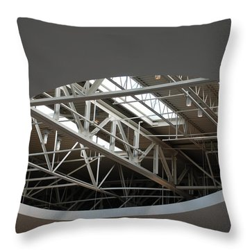 Throw Pillow featuring the photograph Skylight Gurders by Rob Hans