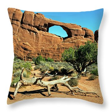 Skyline Arch Throw Pillow
