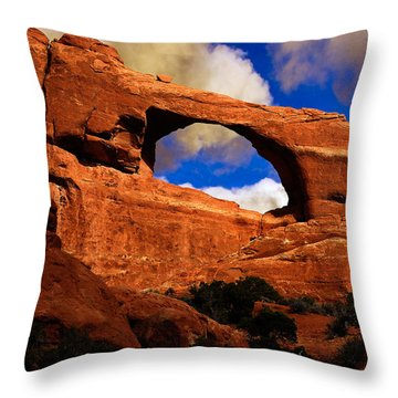 Skyline Arch Throw Pillow