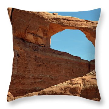 Throw Pillow featuring the photograph Skyline Arch In Utah by Bruce Gourley