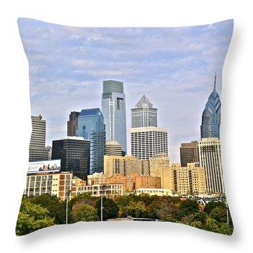 Skyline Throw Pillow by Brynn Ditsche