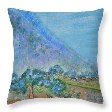 Skyline Drive Begins Throw Pillow