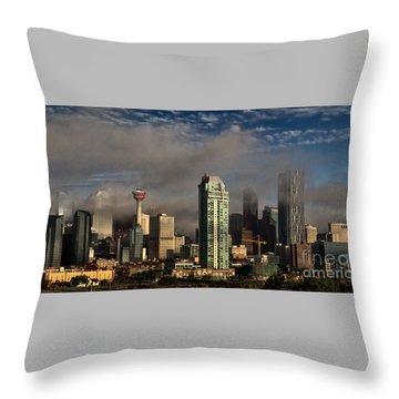 Skyline Fog Throw Pillow
