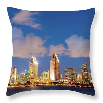 Throw Pillow featuring the photograph Skyline In The Wind by Howard Bagley