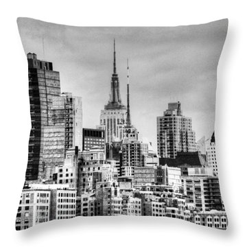 Throw Pillow featuring the photograph Skyline Infrared 2 by Dave Beckerman