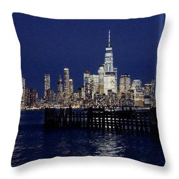 Skyline Lights Throw Pillow