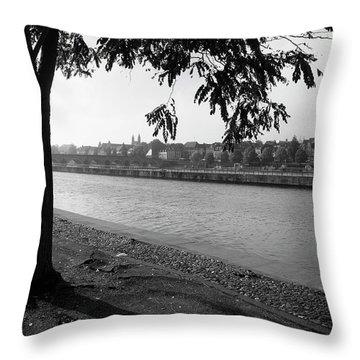 Skyline Maastricht Throw Pillow by Nop Briex