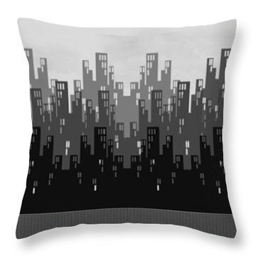 Skyline New York Throw Pillow