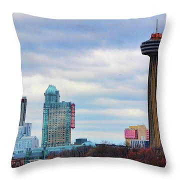 Throw Pillow featuring the photograph Skyline Niagara by Traci Cottingham