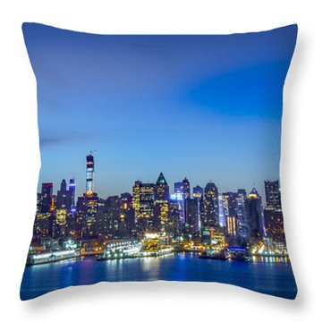 Skyline Nyc Before Sunrise Throw Pillow