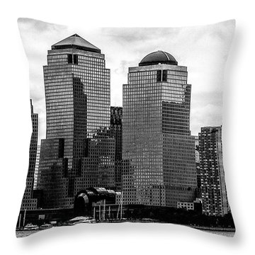 Skyline Nyc River View  Throw Pillow