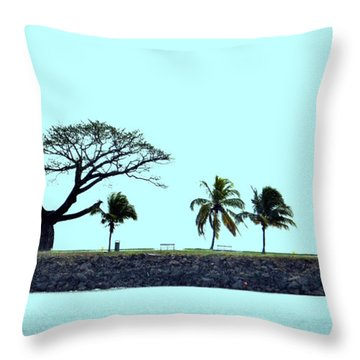 Skyline On Blue Throw Pillow