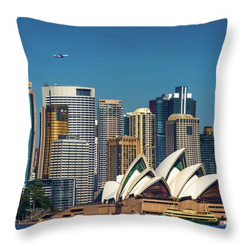 Skyline Oz Throw Pillow