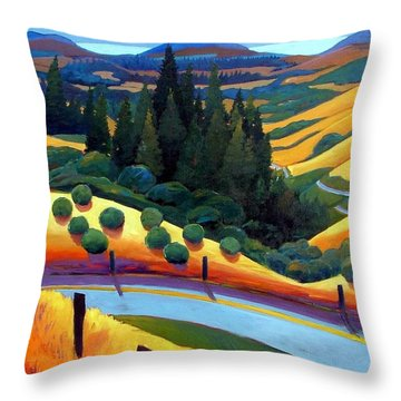 Skylline To The Sea Revisited Throw Pillow