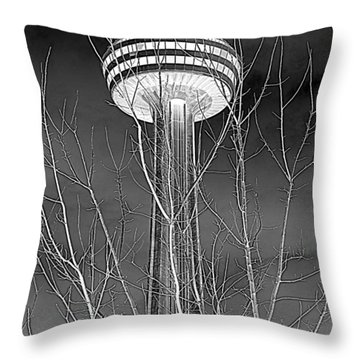 Throw Pillow featuring the photograph Skylon Tower by Valentino Visentini