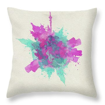 Skyround Art Of Moscow, Russia Throw Pillow