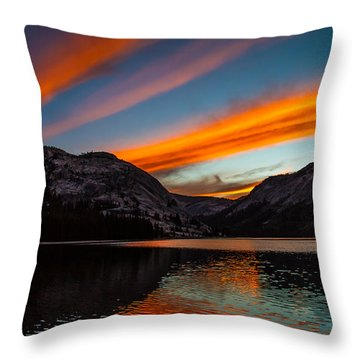 Skys Of Color Throw Pillow by Brian Williamson