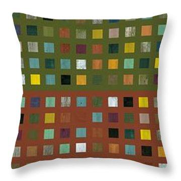 Skyscraper Abstract Ll Throw Pillow by Michelle Calkins