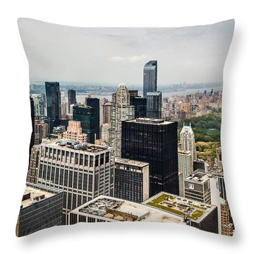 Skyscraper City Throw Pillow