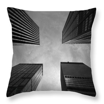 Skyscraper Intersection Throw Pillow