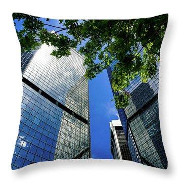 Skyscraper Spring Throw Pillow