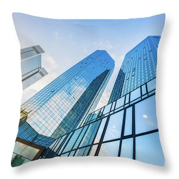 Skyscrapers Throw Pillow by JR Photography