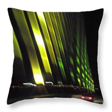 Skyway At Night 5559 Throw Pillow