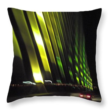 Skyway At Night 5559 Throw Pillow