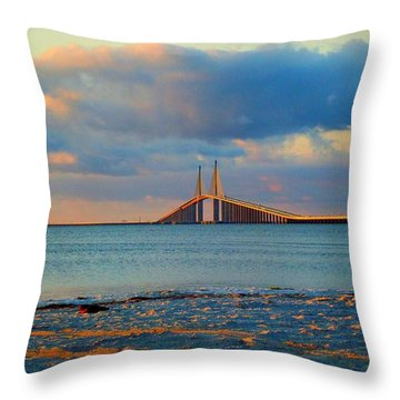 Skyway Bridge Throw Pillow