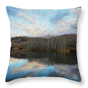 Slack Weiss Lake Throw Pillow