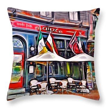 Slainte Irish Pub And Restaurant Throw Pillow by Stephen Younts