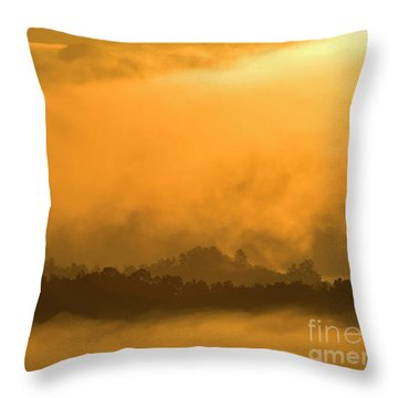 Throw Pillow featuring the photograph sland in the Mist - D009994 by Daniel Dempster