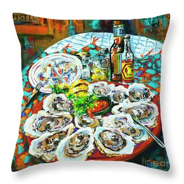 Slap Dem Oysters  Throw Pillow