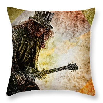 Slash - Guitarist Throw Pillow