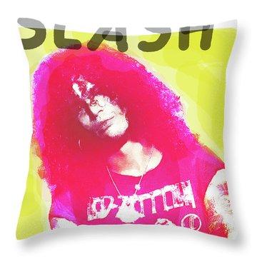 Slash Portrait  Throw Pillow
