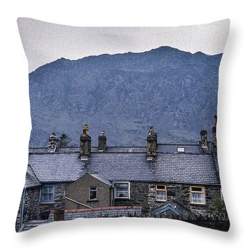 Slate Grey Wales Throw Pillow