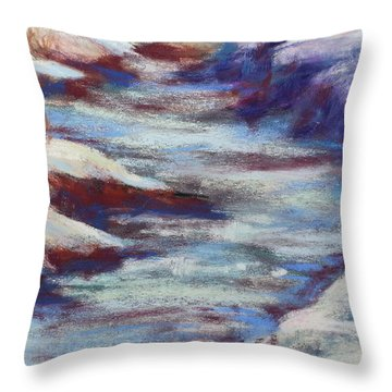 Slate River Melt Throw Pillow