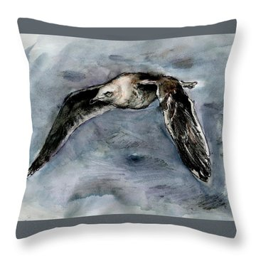 Slaty-backed Gull Throw Pillow
