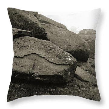 Slaughter Pen At Devils Den Throw Pillow