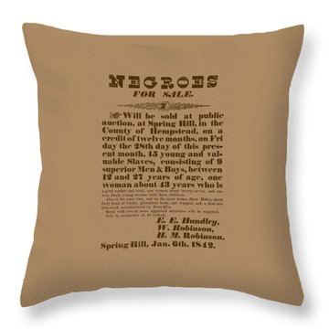Slave Auction Throw Pillow