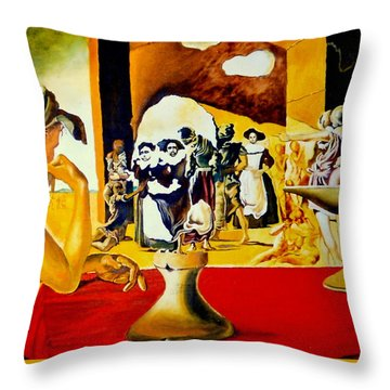 Slave Market With The Invisible Bust Of Voltaire Throw Pillow
