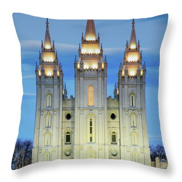 Slc Temple Blue Throw Pillow