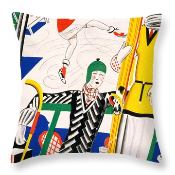 Sledging Throw Pillow