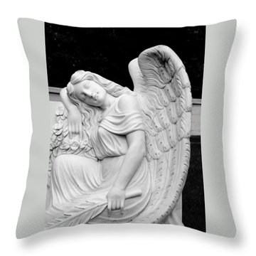 Throw Pillow featuring the photograph Sleeping Angel by Jean Haynes